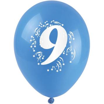 Balóniky nafukovacie - s číslom