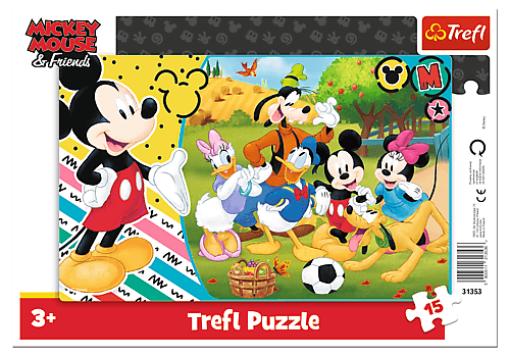 Puzzle 15 dielikov Mickey na vidieku