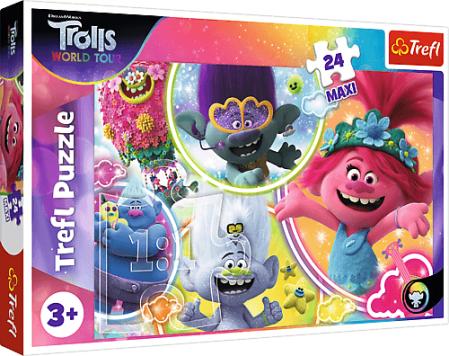 Puzzle 24 Maxi V hudobnom svete Trollov